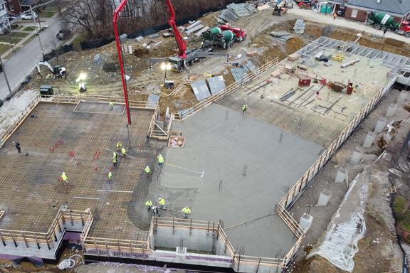 Construction on Schedule, Underground Garage Complete